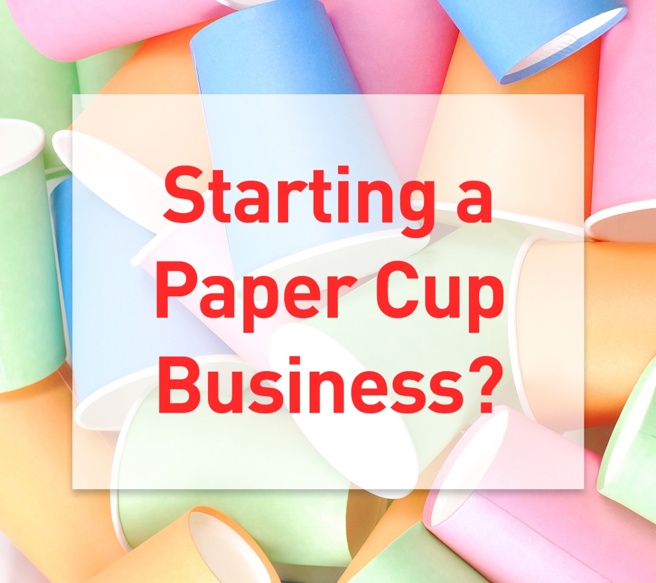 Starting a paper cup business