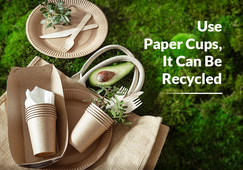 Use Paper Cups It Can Be Recycled
