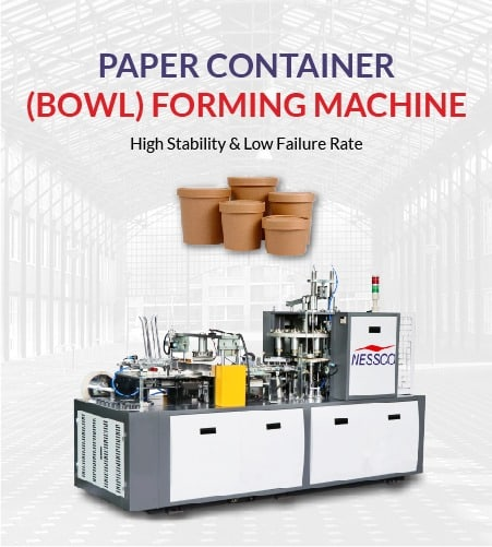 paper bowl container making machine